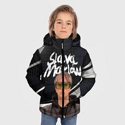 Куртка зимняя для мальчика SLAVA MARLOW АРТЁМ ГОТЛИБ цвета 3D-черный — фото 2