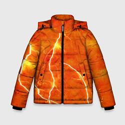 Куртка зимняя для мальчика Молния цвета 3D-черный — фото 1