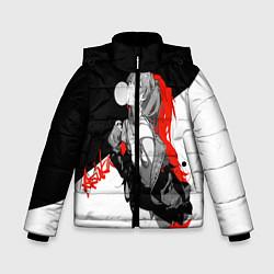 Куртка зимняя для мальчика Asuka Langley Evangelion цвета 3D-черный — фото 1