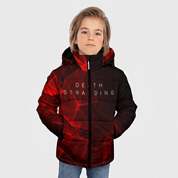 Куртка зимняя для мальчика DEATH STRANDING S цвета 3D-черный — фото 2