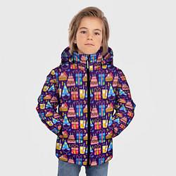 Куртка зимняя для мальчика День рождения цвета 3D-черный — фото 2