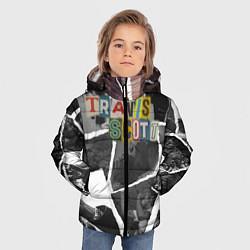 Куртка зимняя для мальчика Travis Scott photo цвета 3D-черный — фото 2