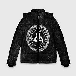 Куртка зимняя для мальчика Рог Одина цвета 3D-черный — фото 1