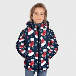 Куртка зимняя для мальчика Новый год 2021 цвета 3D-черный — фото 2