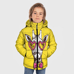 Куртка зимняя для мальчика Жираф цвета 3D-черный — фото 2