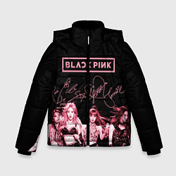 Куртка зимняя для мальчика BLACKPINK цвета 3D-черный — фото 1