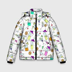 Куртка зимняя для мальчика Коктейльная вечеринка цвета 3D-черный — фото 1