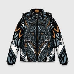 Куртка зимняя для мальчика Рисунок лиса цвета 3D-черный — фото 1