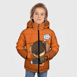 Куртка зимняя для мальчика Маленький Хакер цвета 3D-черный — фото 2