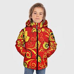 Куртка зимняя для мальчика ХОХЛОМА цвета 3D-черный — фото 2