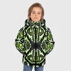 Куртка зимняя для мальчика Green Snake цвета 3D-черный — фото 2