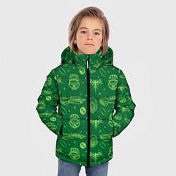 Куртка зимняя для мальчика Halo Pattern цвета 3D-черный — фото 2