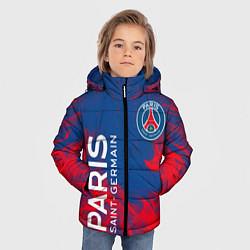Куртка зимняя для мальчика ФК ПСЖ PARIS SAINT GERMAIN цвета 3D-черный — фото 2
