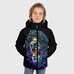 Куртка зимняя для мальчика David Skull цвета 3D-черный — фото 2