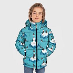 Куртка зимняя для мальчика Пингвины цвета 3D-черный — фото 2