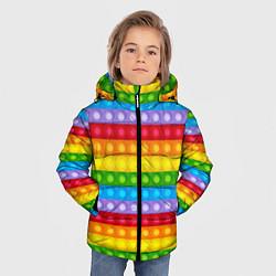 Куртка зимняя для мальчика Pop It цвета 3D-черный — фото 2