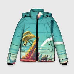 Куртка зимняя для мальчика No Man Sky цвета 3D-черный — фото 1