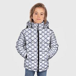 Куртка зимняя для мальчика Волейбольные Мячи цвета 3D-черный — фото 2