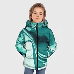 Куртка зимняя для мальчика Красочный развод цвета 3D-черный — фото 2