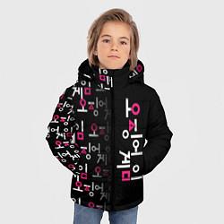 Куртка зимняя для мальчика Игра в кальмара: Логотип цвета 3D-черный — фото 2