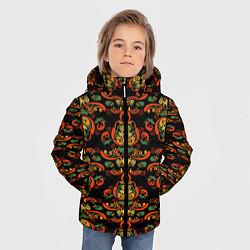 Куртка зимняя для мальчика Хохломские узоры II black цвета 3D-черный — фото 2