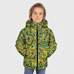 Куртка зимняя для мальчика Узор цвета 3D-черный — фото 2