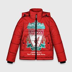 Куртка зимняя для мальчика Liverpool цвета 3D-черный — фото 1