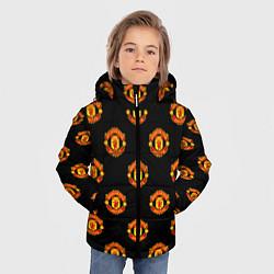 Детская зимняя куртка для мальчика с принтом Manchester United Pattern, цвет: 3D-черный, артикул: 10063904306063 — фото 2