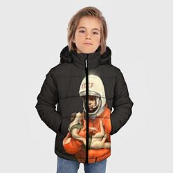 Куртка зимняя для мальчика Гагарин с лайкой - фото 2