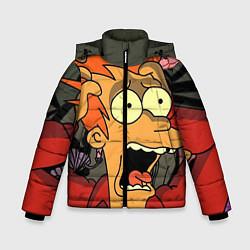 Детская зимняя куртка для мальчика с принтом Frai Horrified, цвет: 3D-черный, артикул: 10064261906063 — фото 1