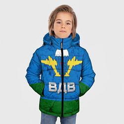Куртка зимняя для мальчика Флаг ВДВ цвета 3D-черный — фото 2