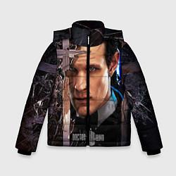 Куртка зимняя для мальчика Доктор кто цвета 3D-черный — фото 1