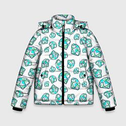 Детская зимняя куртка для мальчика с принтом Бриллианты, цвет: 3D-черный, артикул: 10065053006063 — фото 1