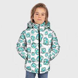 Куртка зимняя для мальчика Бриллианты цвета 3D-черный — фото 2