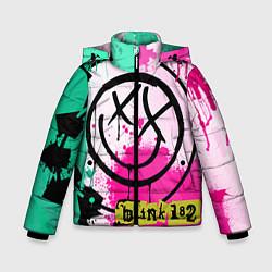 Куртка зимняя для мальчика Blink-182: Purple Smile цвета 3D-черный — фото 1