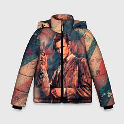 Детская зимняя куртка для мальчика с принтом Доктор кто, цвет: 3D-черный, артикул: 10065374306063 — фото 1