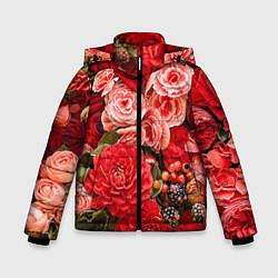 Детская зимняя куртка для мальчика с принтом Ассорти из цветов, цвет: 3D-черный, артикул: 10067033606063 — фото 1