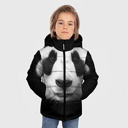 Куртка зимняя для мальчика Взгляд панды цвета 3D-черный — фото 2