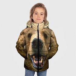 Куртка зимняя для мальчика Взгляд медведя цвета 3D-черный — фото 2