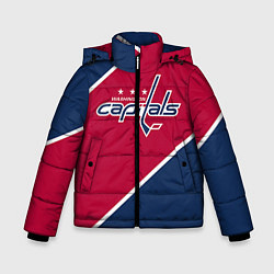 Детская зимняя куртка для мальчика с принтом Washington capitals, цвет: 3D-черный, артикул: 10071133406063 — фото 1