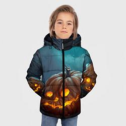 Детская зимняя куртка для мальчика с принтом Тыква, цвет: 3D-черный, артикул: 10071139706063 — фото 2