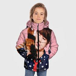 Детская зимняя куртка для мальчика с принтом BTS: Love Me, цвет: 3D-черный, артикул: 10071615506063 — фото 2