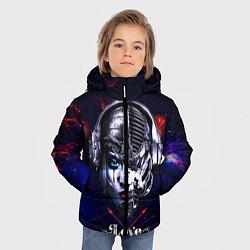 Куртка зимняя для мальчика Love pirate station цвета 3D-черный — фото 2