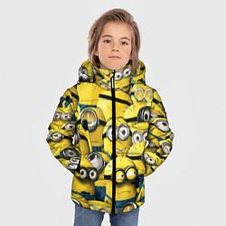 Куртка зимняя для мальчика Minions цвета 3D-черный — фото 2