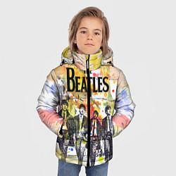 Куртка зимняя для мальчика The Beatles: Colour Spray цвета 3D-черный — фото 2
