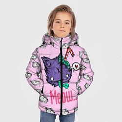 Куртка зимняя для мальчика Drop Dead: Meow цвета 3D-черный — фото 2