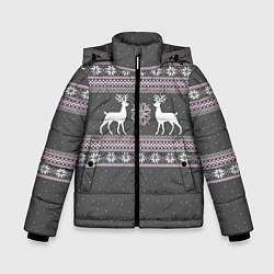 Куртка зимняя для мальчика Узор с оленями - фото 1