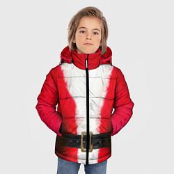 Куртка зимняя для мальчика Дед мороз цвета 3D-черный — фото 2