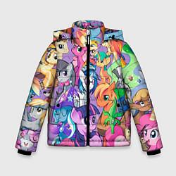 Детская зимняя куртка для мальчика с принтом My Little Pony, цвет: 3D-черный, артикул: 10075443806063 — фото 1