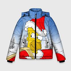 Куртка зимняя для мальчика Санта Гомер цвета 3D-черный — фото 1